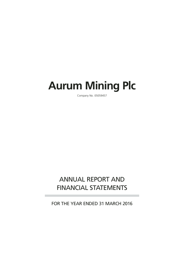Shearwater Group (Previously Aurum Mining)   annual report