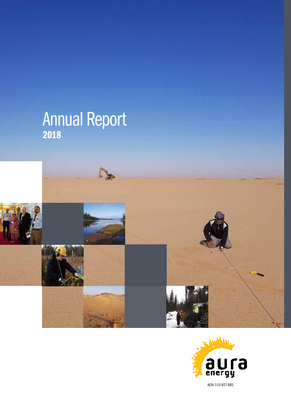 Aura Energy   annual report