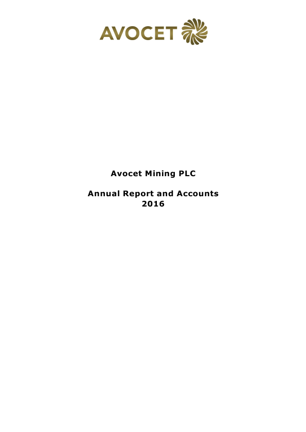 Avocet Mining   annual report