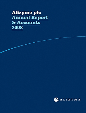 Alizyme   annual report