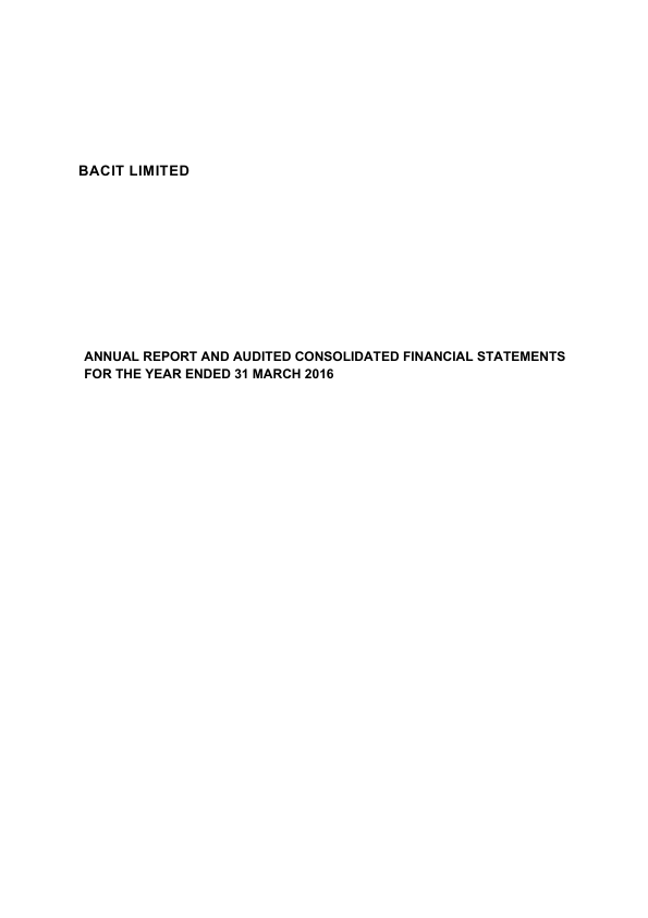 Syncona (previously Bacit)   annual report