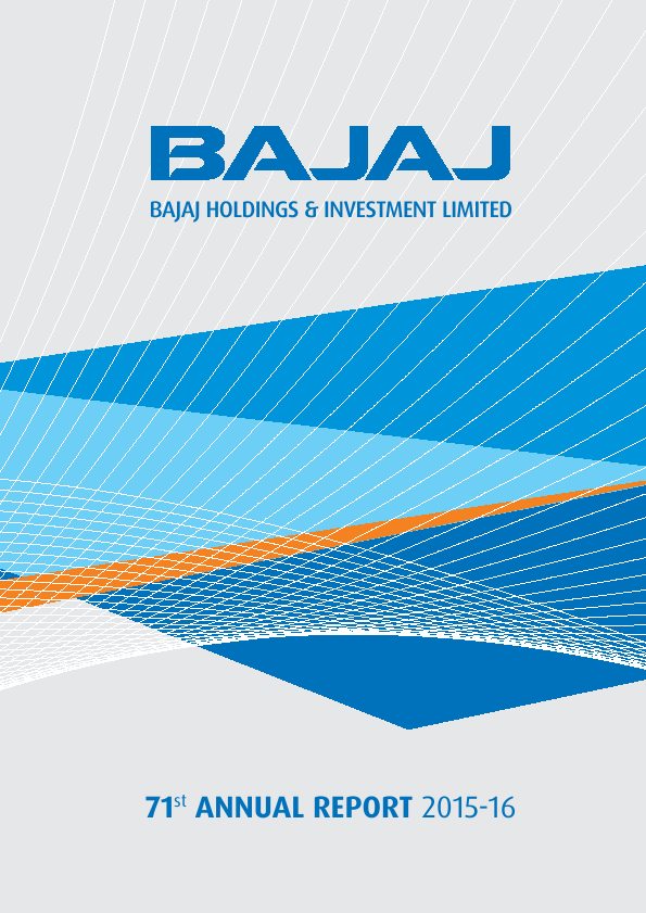 Bajaj Holdings & Investment   annual report