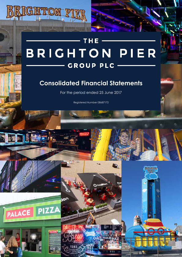 Brighton Pier Group (formally Eclectic Bar Group)   annual report