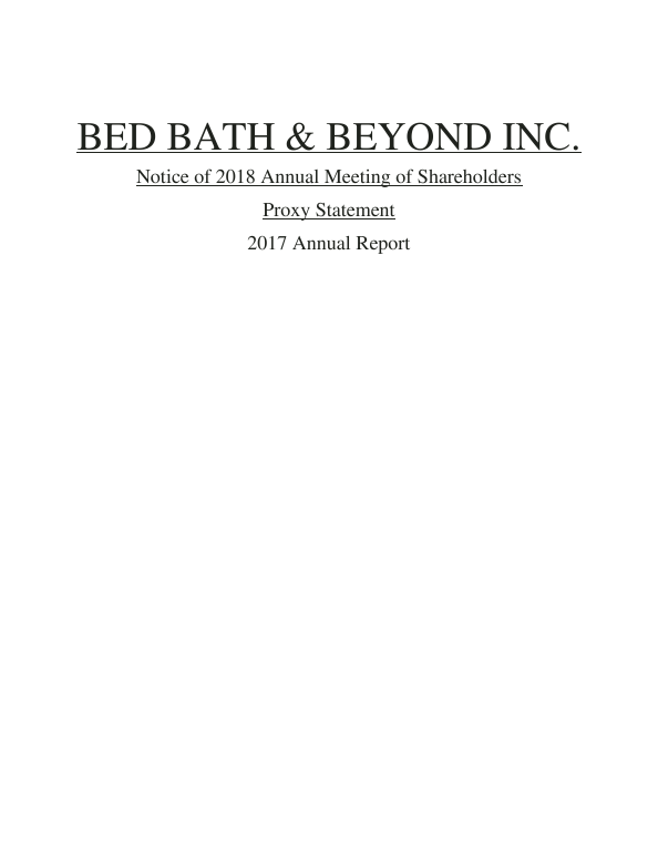 Bed Bath & Beyond Inc.   annual report