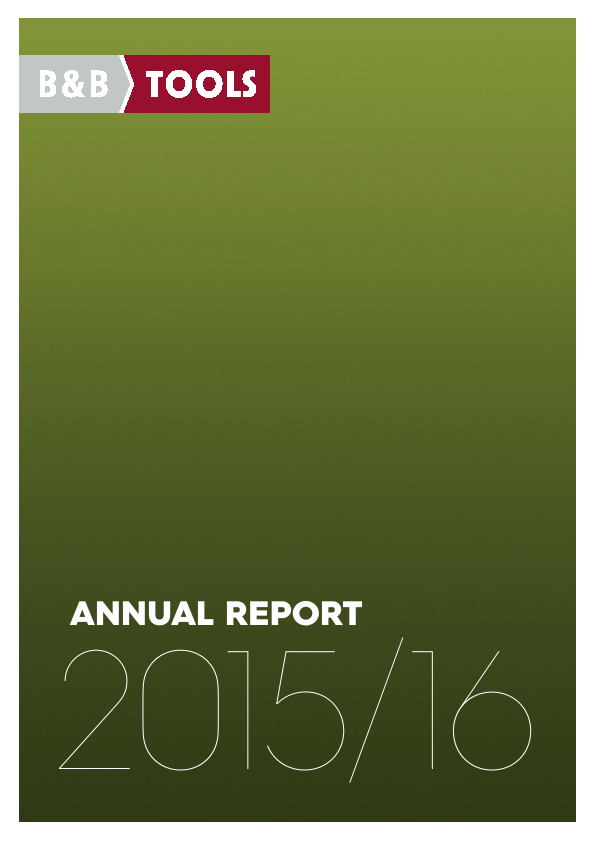 B&B TOOLS   annual report