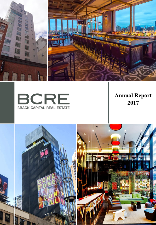 BCRE Brack Capital Real Estate   annual report