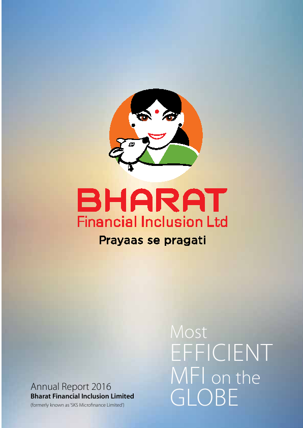 Bharat Financial Inclusion   annual report