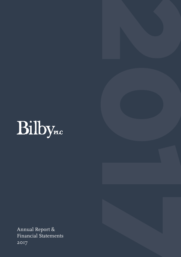Bilby Plc   annual report