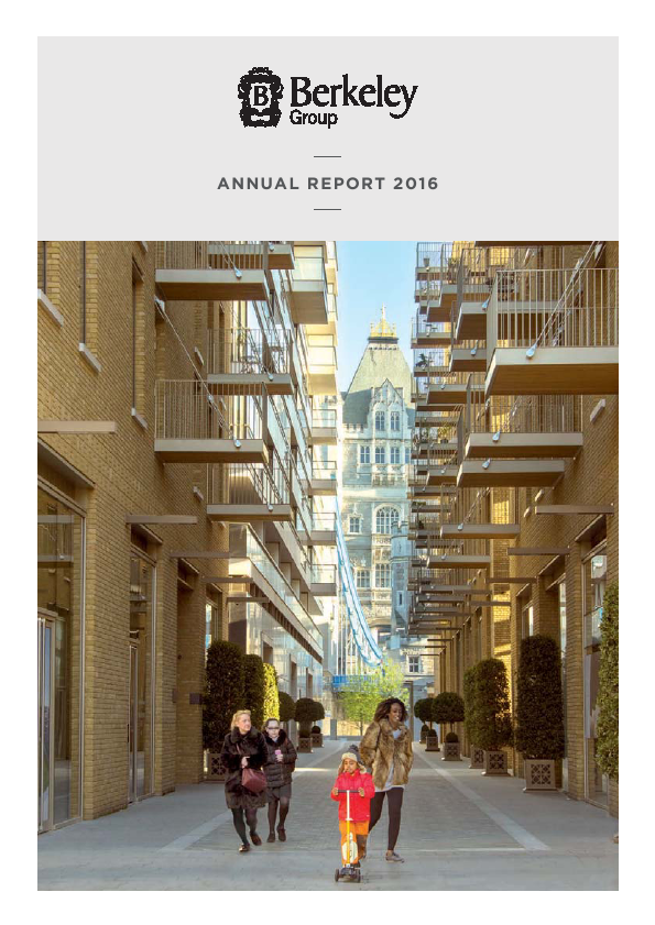 Berkeley Group Holdings   annual report