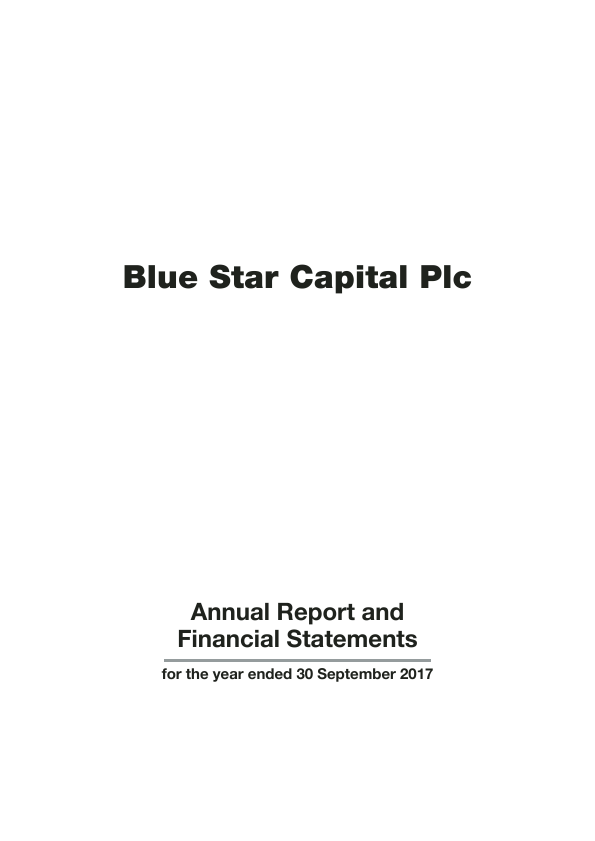 Blue Star Capital Plc   annual report