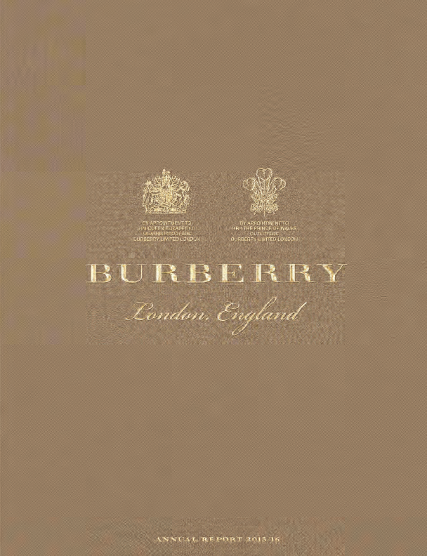 Burberry Group   annual report