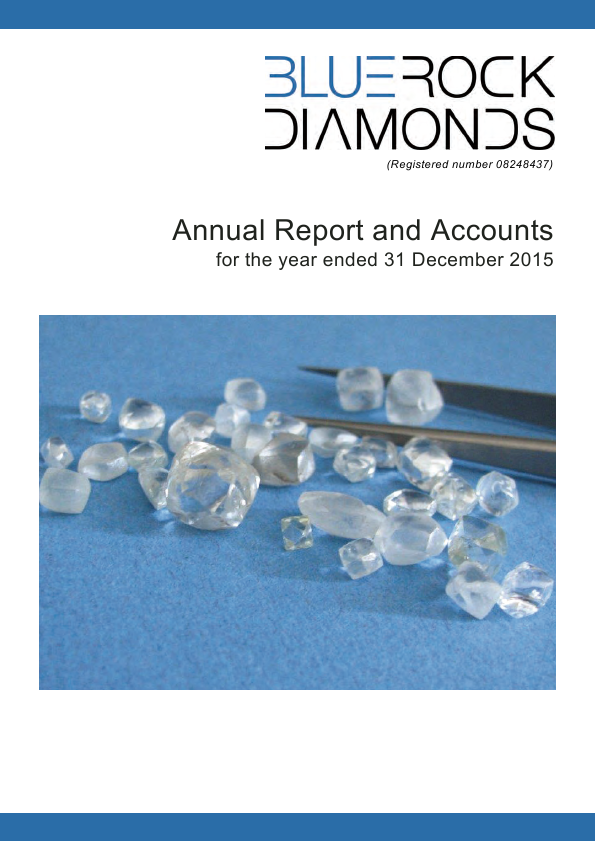 Bluerock Diamonds Plc   annual report
