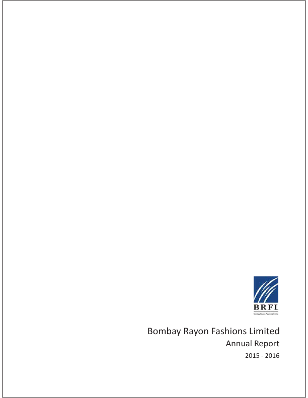Bombay Rayon Fashions   annual report