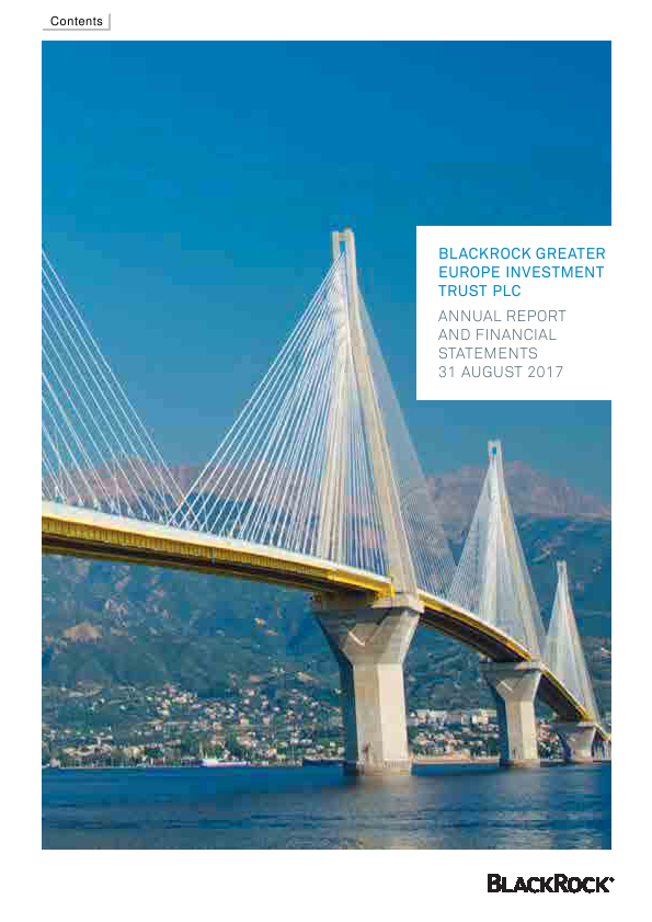 Blackrock Greater Europe Investment Trust   annual report