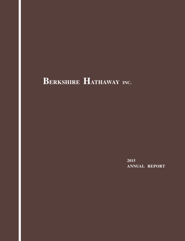 Berkshire Hathaway   annual report