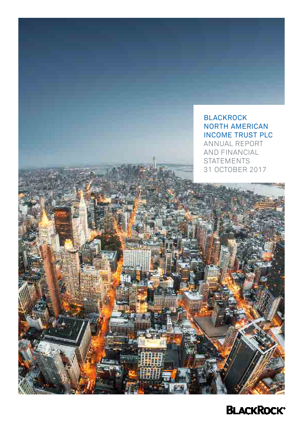 Blackrock North American Income Trust Plc   annual report