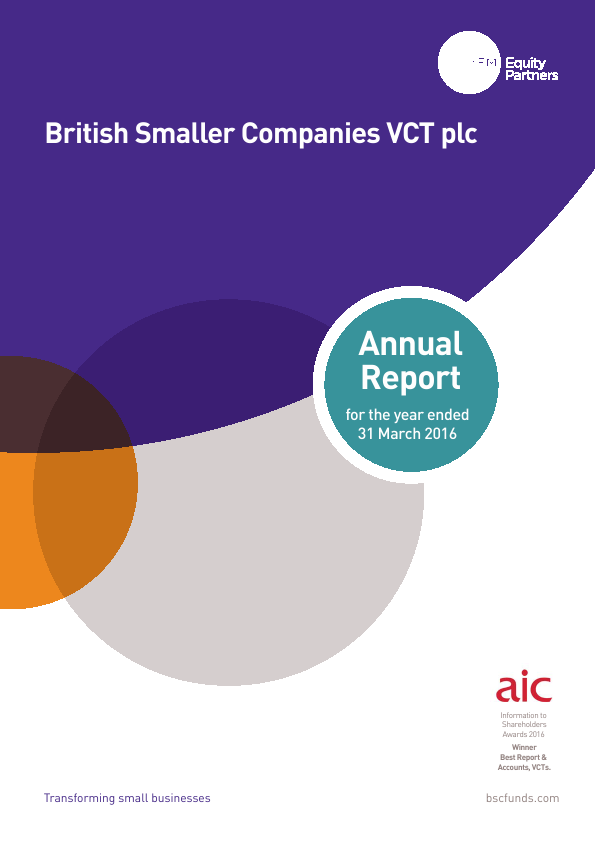 British Smaller Companies VCT   annual report