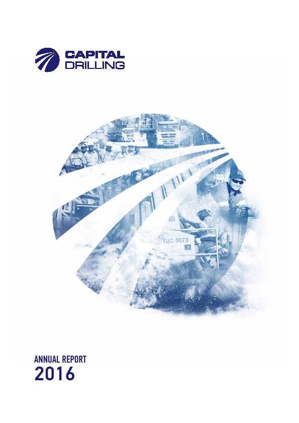 Capital Drilling   annual report