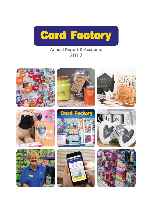 Card Factory Plc   annual report