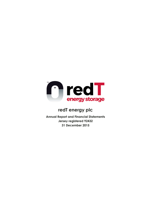 redT Energy Plc (formally Camco Clean Energy)   annual report