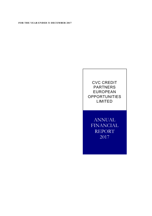 CVC Credit Partners European Opportunities   annual report