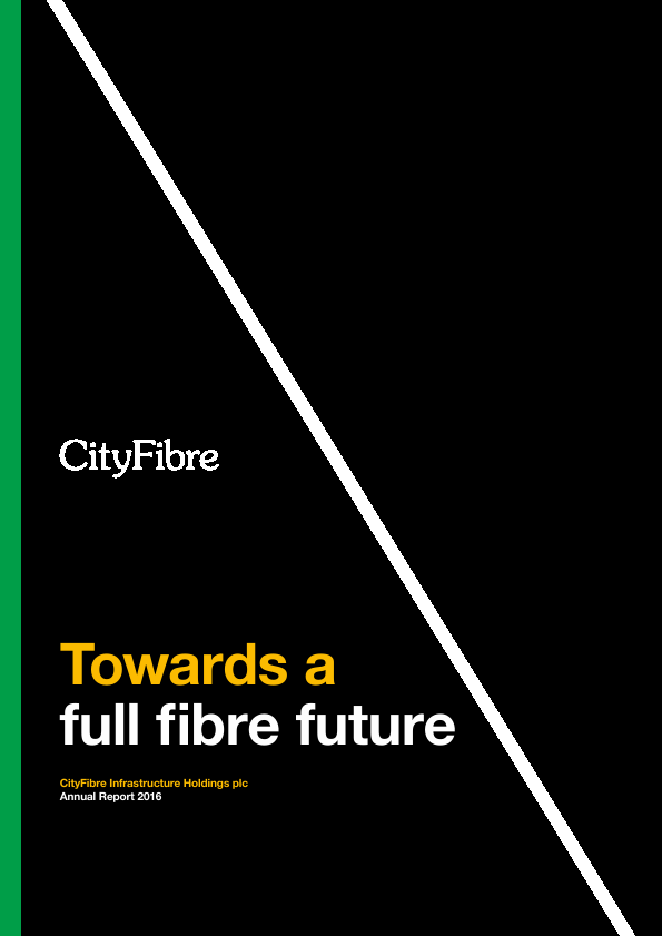 Cityfibre Infrastructure Holdings Plc   annual report