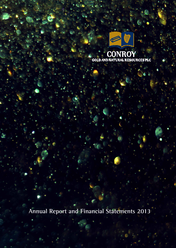 Conroy Gold & Natural Resources Plc   annual report