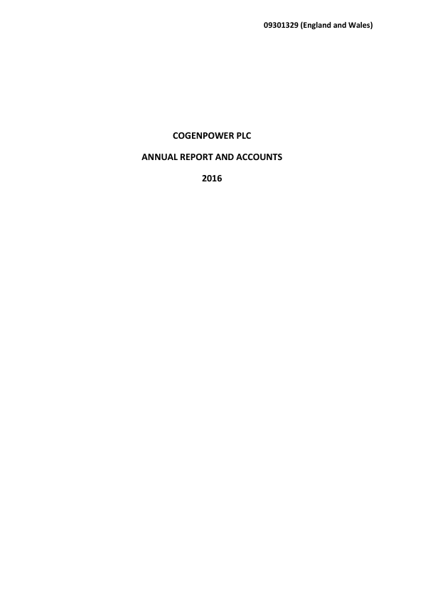 Cogenpower   annual report