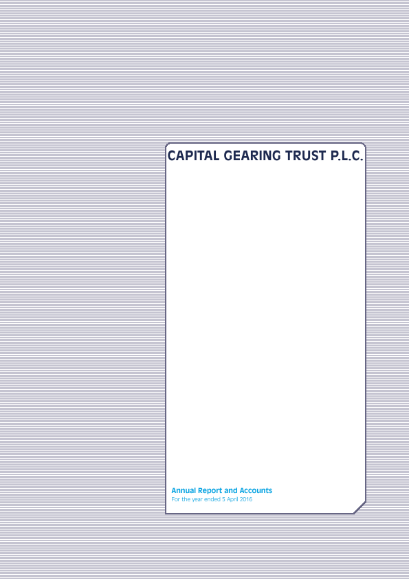 Capital Gearing Trust   annual report
