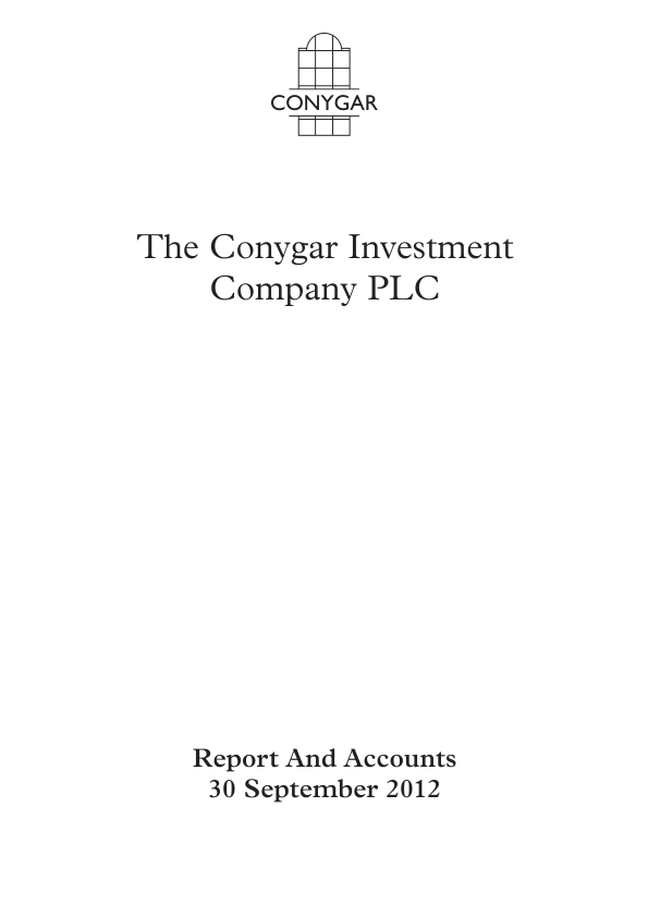 Conygar Investment Co(The)   annual report