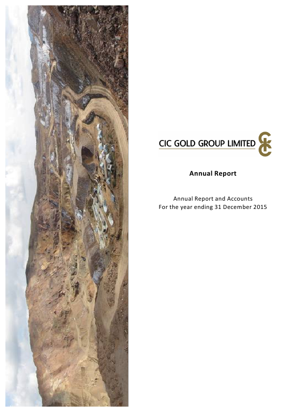 CIC Gold Group Ltd   annual report