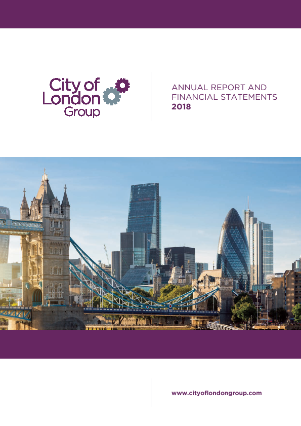 City of London Group   annual report