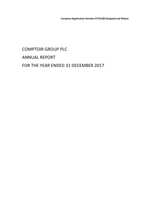Comptoir Group   annual report