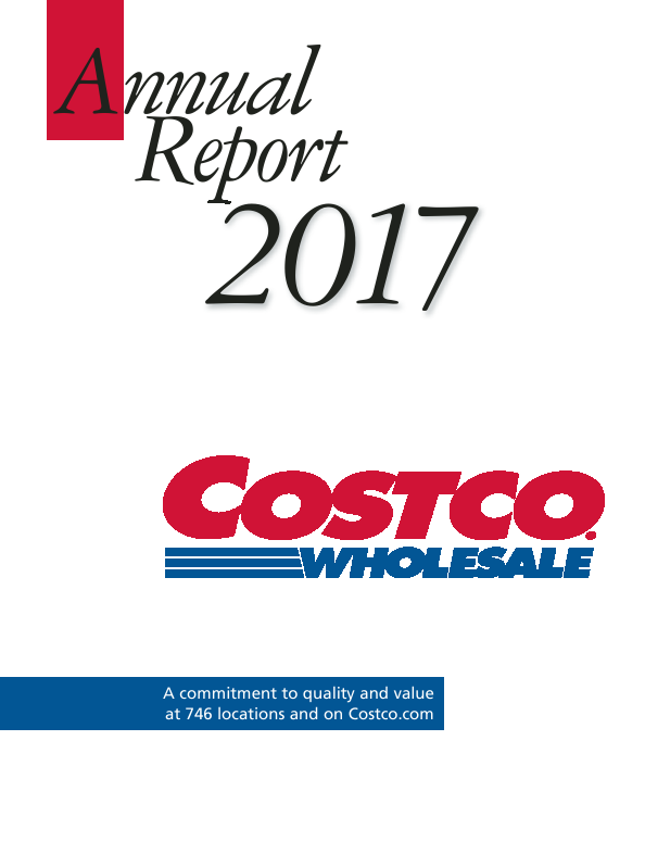 Costco Wholesale Corporation   annual report