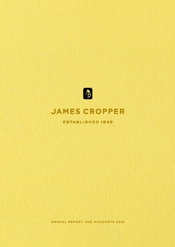 Cropper(James)   annual report