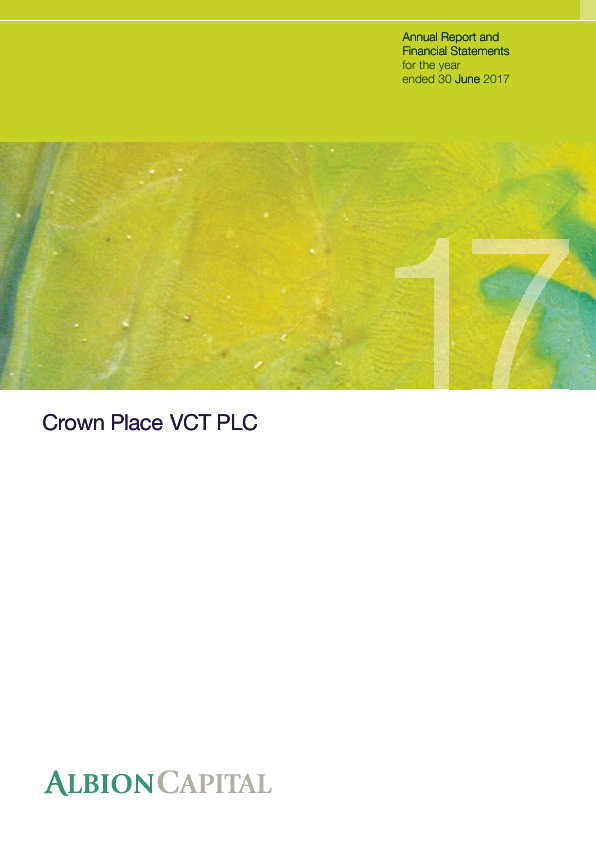 Crown Place VCT   annual report