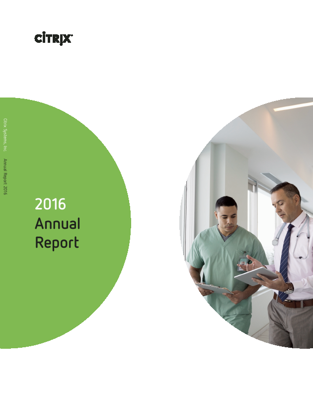 Citrix Systems, Inc.   annual report