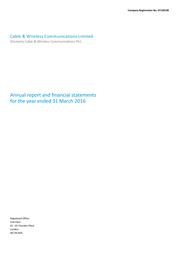 Cable & Wireless Communications   annual report