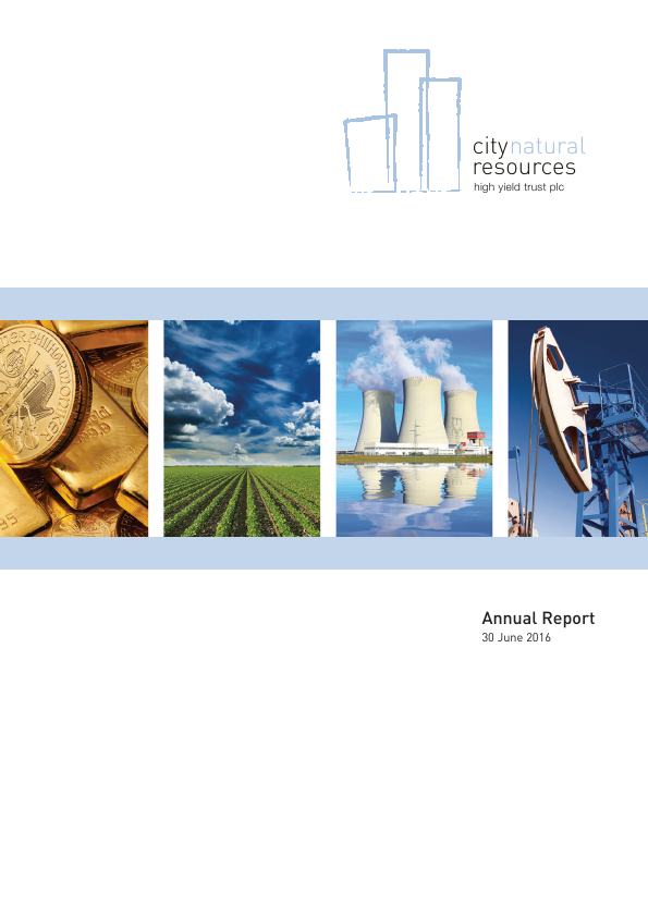 City Natural Resources High Yield Trust   annual report