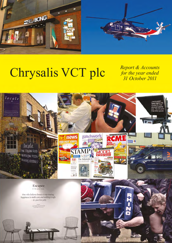 Chrysalis VCT   annual report