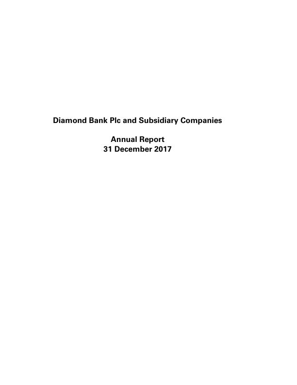 Diamond Bank   annual report