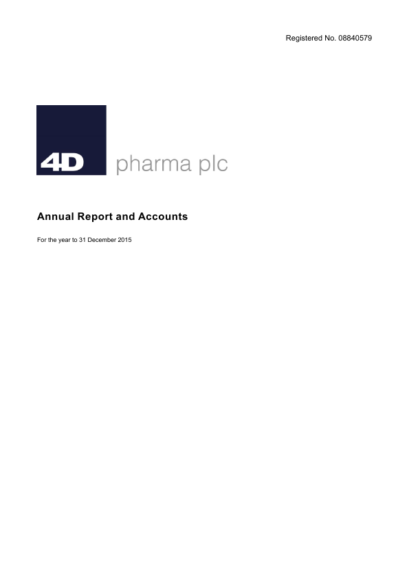 4D Pharma Plc   annual report