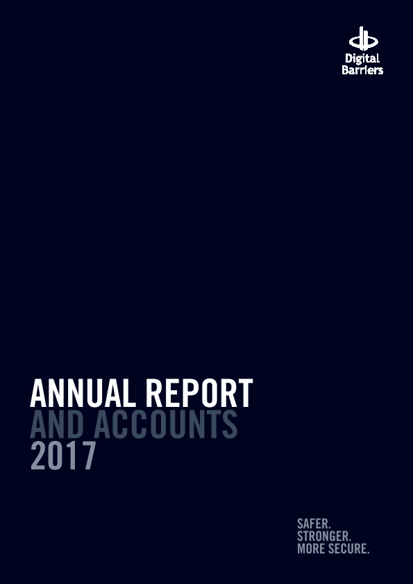 Thruvision (previously Digital Barriers)   annual report