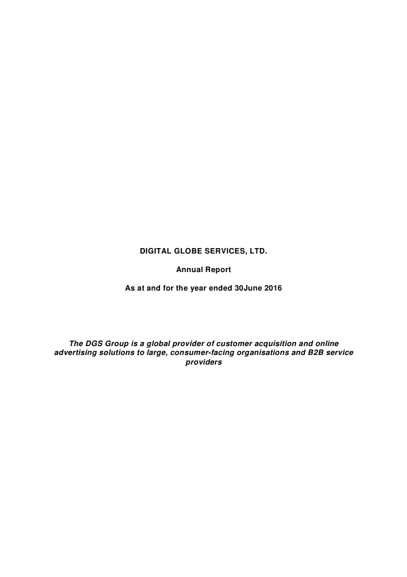 Digital Globe Services   annual report