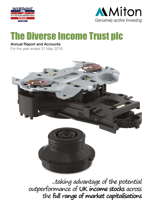 Diverse Income Trust Plc(The)   annual report