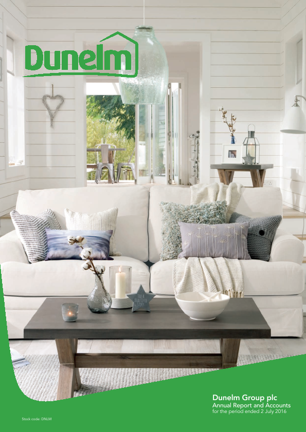 Dunelm Group Plc   annual report