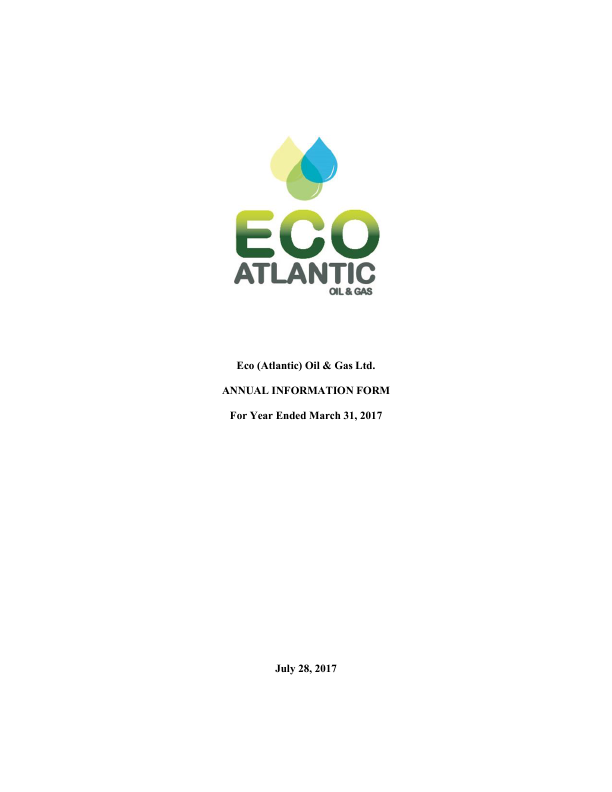 Eco (Atlantic) Oil and Gas   annual report