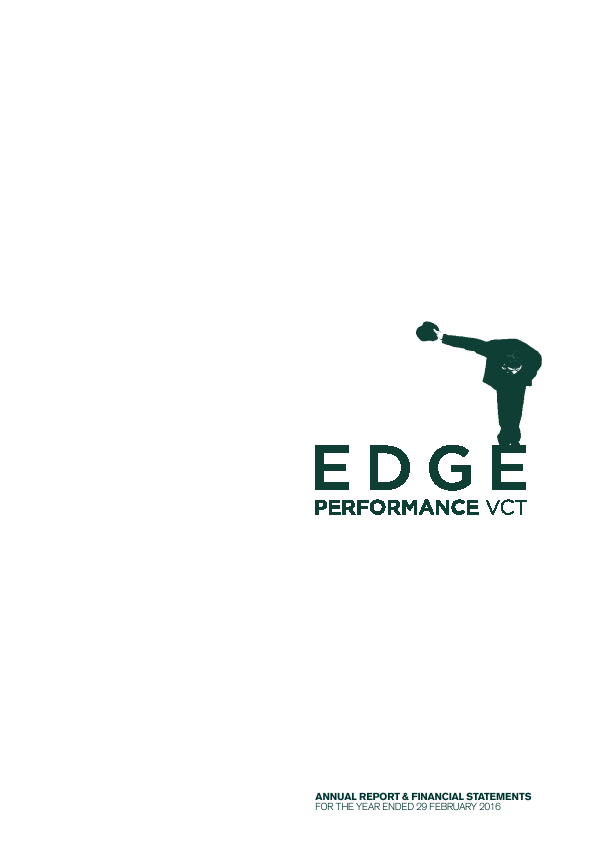 Edge Performance VCT Plc   annual report