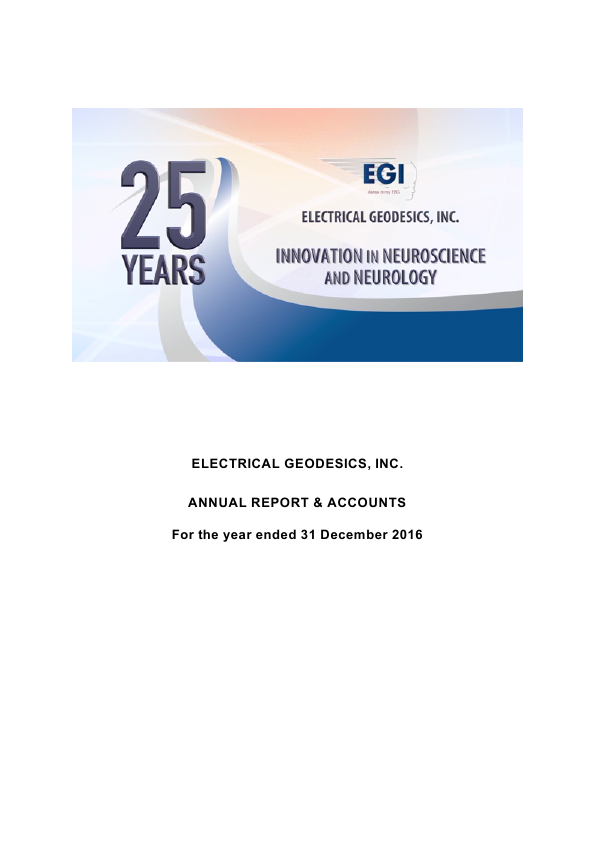 Electrical Geodesics Inc   annual report