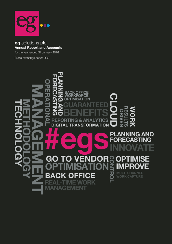 Eg Solutions Plc   annual report